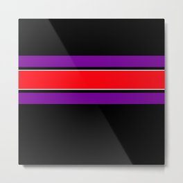 Team Colors 2...red ,purple, black and white Metal Print