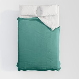 Dark turquoise and light turquoise gradient, Ombre. Comforters