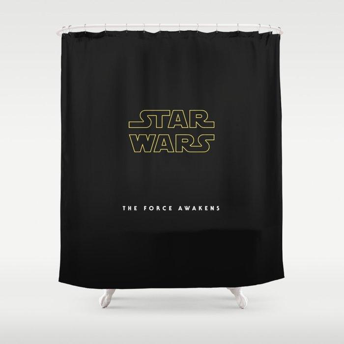 The Force Awakens, Vintage Poster, tar wars, vintage movie poster Shower Curtain