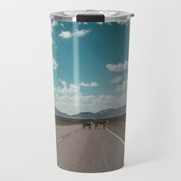 cows on the open road Travel Mug