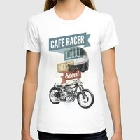 cafe T-shirts featuring cafe racer by Liviu Antonescu