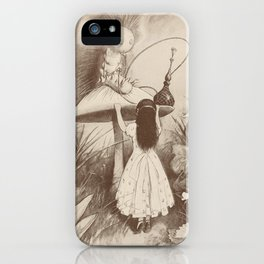 Alice in Wonderland With the Caterpillar iPhone Case