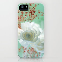 Pastell Flowers Rose iPhone Case
