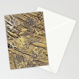 Baby Handprints in Gold and Black Stationery Cards