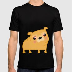 Pug  Mens Fitted Tee Black MEDIUM