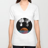pool V-neck T-shirts featuring Planet Pool by Cs025
