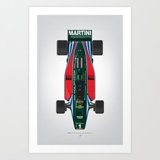 Outline Series N.º2, Mario Andretti, Lotus 80-Ford 1980 Art Print