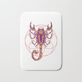 Scorpio Zodiac Sign Bath Mat