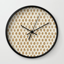 Simple Hand Drawn Pattern #5 Wall Clock