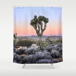 Joshua Tree.Sunrise.II.Pink.Desert.Mojave. Shower Curtain