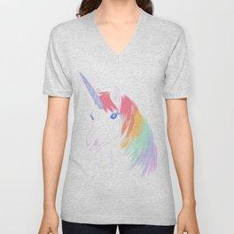 Rainbow Unicorn Unisex V-Neck