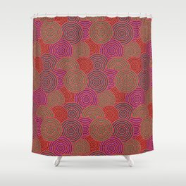 Australian Outback Circles Shower Curtain