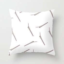 All my Joints white Throw Pillow
