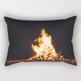 BONFIRE - FIRE - HOT - PHOTOGRAPHY Rectangular Pillow