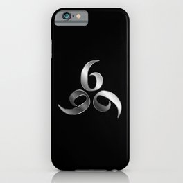 666- the number of the beast or angel symbol or devils number iPhone Case