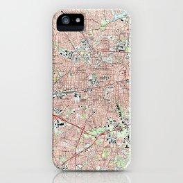 Greensboro North Carolina Map (1997) iPhone Case