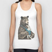 nursery Tank Tops featuring the bear au pair by Laura Graves