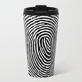 Fingerprint CSI crime scene Travel Mug