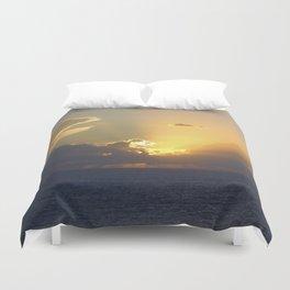 Sunset, Amalphi coast, Italy 2 Duvet Cover