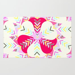 Concentric hearts Rug