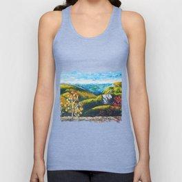 Landscape painting - Autumn dreams - by LiliFlore Unisex Tank Top