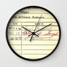 LibraryCard 510 Math Without Numbers Wall Clock