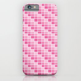 Four Shades of Pink Squares iPhone Case