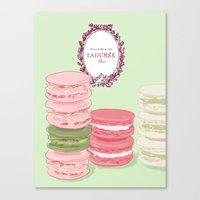 macarons Canvas Prints featuring Macarons by Silbox