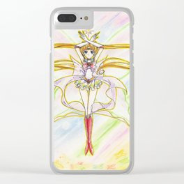 Super Sailor Moon Butterfly Look Clear iPhone Case
