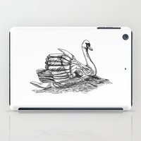 black swan iPad Cases featuring Swan  by Amor et Squalore