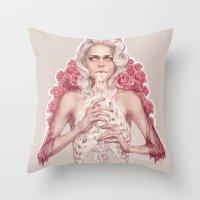 milk Throw Pillows featuring Milk by jasric