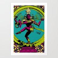 Natraj Dance Art Print