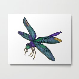 Pretty Fly For A Dragonfly Metal Print