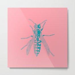 Beezer on Pink Metal Print