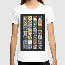 Cats and Dogs in Black T-shirt