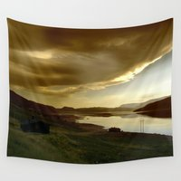norway Wall Tapestries featuring Norway by Sushibird