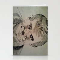 psycho Stationery Cards featuring Psycho by Paintings That Pop