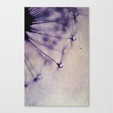 vintage purple dandy Canvas Print