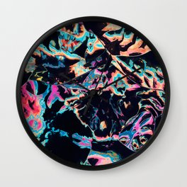 Who spilled these colors Wall Clock