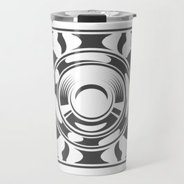 Mechanical box motorcycle with cover in design fashion modern monochrome style illustration Travel Mug