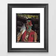 Strange Portrait Framed Art Print