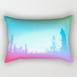 Bright Colorful Forest Rectangular Pillow