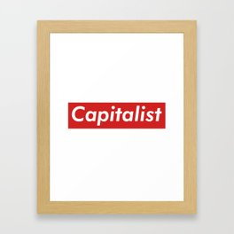 Capitalist Box Logo Framed Art Print