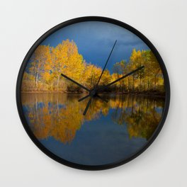 Golden light Wall Clock