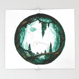 Fathers World Throw Blanket