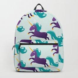 Violet unicorn Backpack