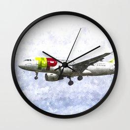 Air Portugal Airbus A319 Art Wall Clock