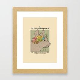 The Feline Phrenology Framed Art Print