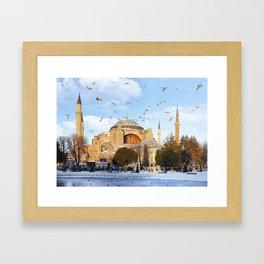Hagia Sophia in Istanbul,Turkey Framed Art Print