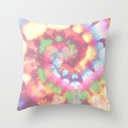 Colorful tie dye Throw Pillow